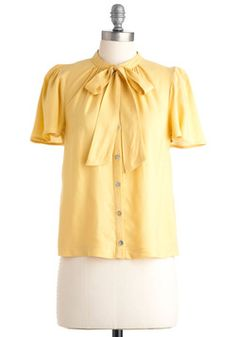Sold. Brilliant Business Plan Top in Gold. An entrepreneurial epiphany hits you after pondering how to make life easier for the gal on the go, and before you know it, you've acquired a patent and set up a meeting with potential investors! #yellow #modcloth