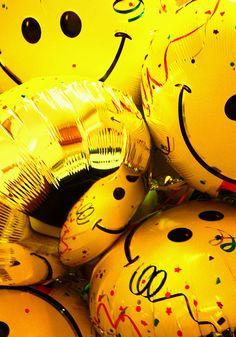 Happy Yellow Smiley Face Balloons