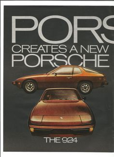1976 2 Page Porsche Advertisement 924 Rust Burnt by fromjanet