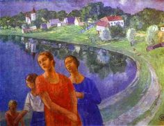 Petrov-Vodkin, Kuzma (1878-1939) - 1926 In Shuvalovo (The State Russian Museum, St. Petersburg, Russia) by RasMarley, via Flickr