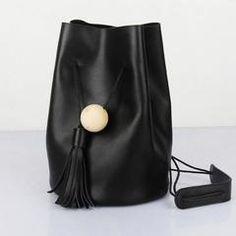 Genuine Leather Bucket Bag Shoulder Bag Beige for Women Crossbody Bag 14126 Leather Backpack Pattern, Leather Crossbody Bag, Crossbody Bags, Satchel, Tote Bag, Black Leather Bags, Fashion Bags, Women's Fashion, Bucket Bag