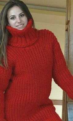 Womens Knit Sweater, Mohair Sweater, Turtleneck Outfit, Sweater Outfits, Thick Sweaters, Wool Sweaters, Gros Pull Long, Chunky Knitwear, Fur Fashion