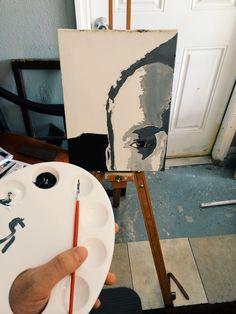 Self Portrait 1 of 4 Mirror, Bradley Mountain, Twitter, Table, Furniture, Portrait, Home Decor, Art, Art Background