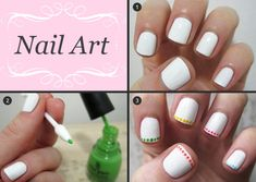 white + colored dotting