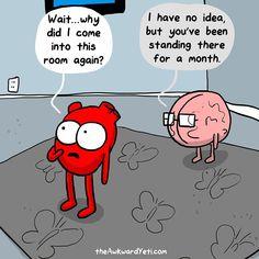 Heart vs Brain..haha!