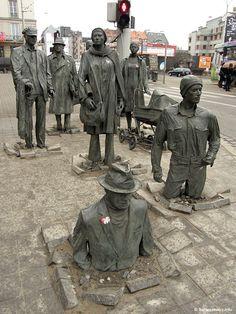 #Sculpture #Street #art - The Anonymous Pedestrians by Jerzy Kalina - Poland