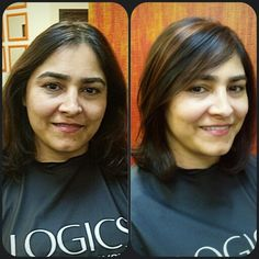 Partial copper hilites on rich brown hair....by Lucy Lopez at Solstice Salon Cleveland Ohio.