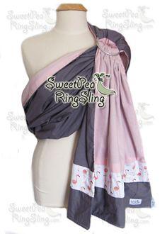 Flamingos! Babywearing Ring Sling SweetPea Ring Sling Custom order OOAK  http://www.sweetpearingsling.com/customorders.htm