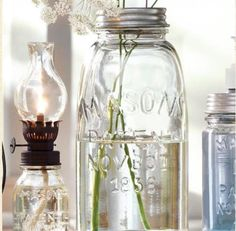 Antique Mason jars - simple beauty