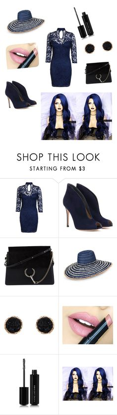 """Dark blue is always fun. right??"" by ruza-steampunk ❤ liked on Polyvore featuring Dorothy Perkins, Gianvito Rossi, Chloé, Armani Jeans, Humble Chic, Fiebiger and Marc Jacobs"