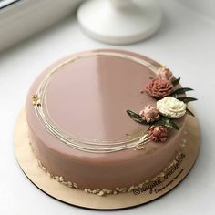 Birthday cake Elegant Birthday Cakes, Beautiful Birthday Cakes, Gorgeous Cakes, Pretty Cakes, Cute Cakes, Amazing Cakes, Cake Birthday, Sweet Cakes, Simple Cake Designs