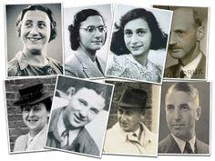 The members of the Secret Annex:  Edith Frank, Margot Frank, Anne, Otto Frank,  Auguste van Pels, Peter van Pels, Hermann van  Pels and Dr Fritz Pfeffer.