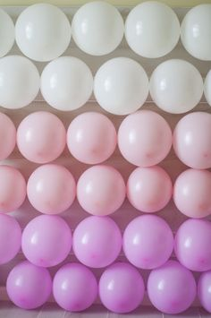 Ombre balloon backdrop!