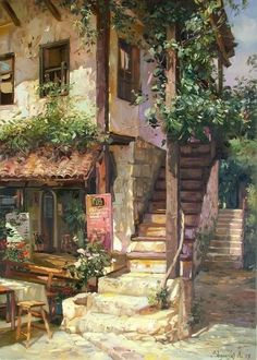Fantasy Landscape, Landscape Art, Landscape Paintings, Fantasy Art Landscapes, Anime Scenery Wallpaper, Environment Concept Art, Aesthetic Art, Angel Aesthetic, Aesthetic Painting