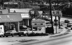 """The original caption reads: """"A portion of Cheshire Bridge Road, looking towards LaVista Road. Cheshire Bridge has attracted a hodgepodge of ethnic restaurants, bars and businesses along its 1 1/2 mile stretch."""" The photo was taken August 19, 1988. (Louie Favorite/AJC staff)"""