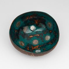 Lacquered coconut shell bowl by Namigurumi on Etsy, $6.50