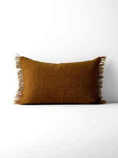 Our elegant, pure linen fringe cushions are made using natural, hand-woven linen fibres. As well as being rich in character and texture, linen is also an eco-friendly & bio-degradable fibre that does not require irrigation to grow. Our linen is a hand mad Cushions For Sale, Cushions Online, Cushions On Sofa, Organic Cotton Sheets, Cotton Sheet Sets, Vintage Velvet, Vintage Linen, Modern Cushions, Linen Bedding