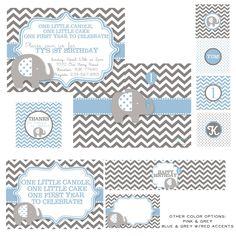 snowbird design: Boy Birthday Themes, elephant party, first birthday,