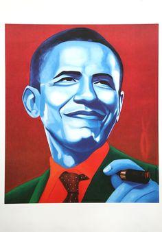 Christian Develter - Obama with cigar