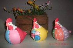 galinha decorativa - faiança - pintura artesanal