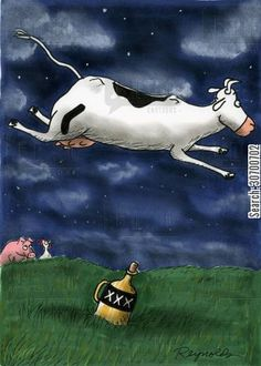 hey diddle cow jumped over moon - Google Search