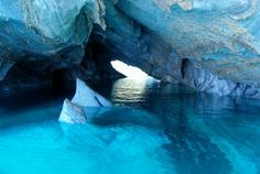 OMG!! I HAVE To Go! Like right now! Marble caves of Chile ♥.♥