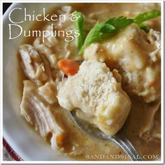 Chicken & Dumplings - Determined to make this gluten and dairy free...use coconut or rice milk and gf flour, earth balance margarine!