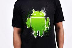 $19.95 Cruzerlite Andy Splat T-Shirt - Samsung Galaxy Note 2 Android T-Shirts - ShopAndroid