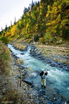 Fly Fishing. Tusheti National Park
