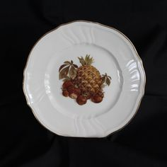 Rosenthal China Pineapple and Strawberries by vintagekitchenhome