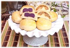 Pinay In Texas Cooking Corner: Pan de Coco and Pan de Ube (Coconut and Purple Yam Rolls)