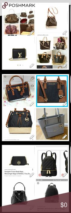 In Search of These Bags Looking for these bags or very similiar. There LV,MK,Tory Burch & Brahman here. & 1 Chanel that i prob want b able to afford.lol  id b open to a mirror image on that one ;) Bags