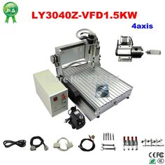 1472.00$  Buy here - http://ali6il.worldwells.pw/go.php?t=32330793211 - Assembled&Test well 3D CNC machine 3040 CNC Router cnc engraving machine 1500w spindle drilling lathe, free tax to EU 1472.00$