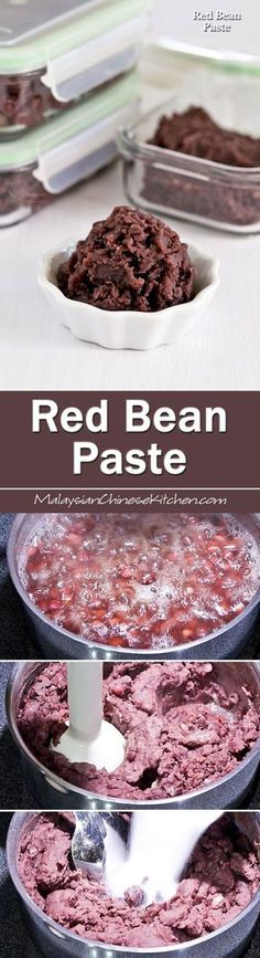 A video tutorial on How to Make Red Bean Paste used in Asian pastries and desserts. Also tips on making it more suitable as a filling for mooncakes.   MalaysianChineseKitchen.com