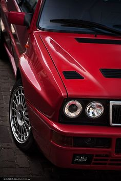 Red racer by KonradJanicki   Lancia Delta Integrale