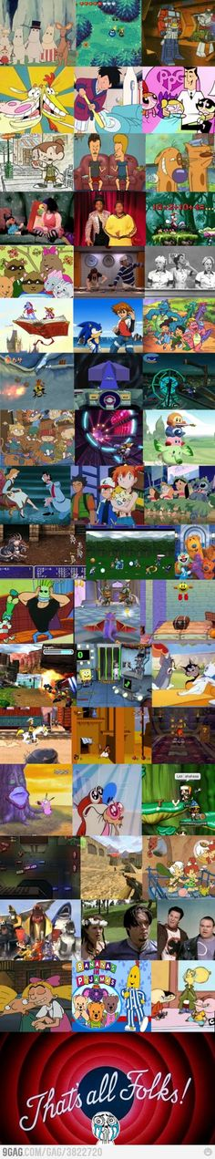 The Big Comfy Couch!! Drake and Josh! Cinderella...Pokemon...Lilo and Stich....Spongebob...Tom and Jerry...I miss old T.V...