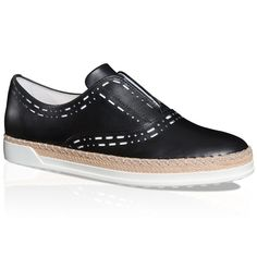 TOD'S Slip-On Shoes In Leather. #tods #shoes #