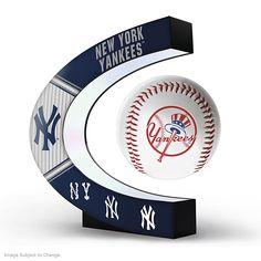 New York Yankees MLB Levitating Baseball Sculpture Yankees Logo, New York Yankees Baseball, Yankees Fan, Dodgers Baseball, The Mick, Buster Posey, Baseball Gifts, Yankee Stadium, Mickey Mantle