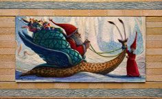 Buy THE MAGICAL SNAIL OF SANTA CLAUS - ( framed ), Acrylic painting by Carlo Salomoni on Artfinder. Discover thousands of other original paintings, prints, sculptures and photography from independent artists.
