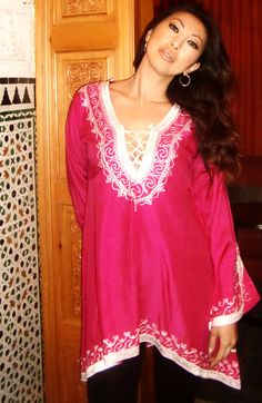 Pink Traditional Marrakech Tunic
