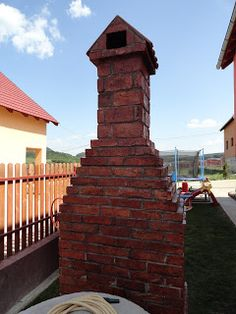 Pe Langa Casa: Gratar de Gradina Rustic din Caramida Brick Patterns, Stairs, Backyard, Building, Garden, Bbq Ideas, Project 3, Home Decor, Bar Grill