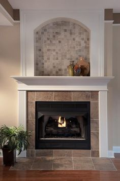 we added a fireplace and used trim detail  w/darker paint above to add interest to the space