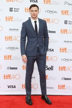 Nicholas Hoult #suits up in Burberry - Equals premiere TIFF