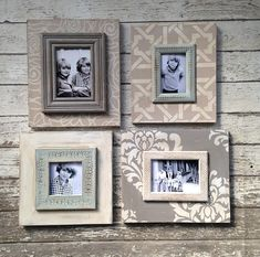 Set of 4 Coordinating Greige Frames by deltagirlframes on Etsy