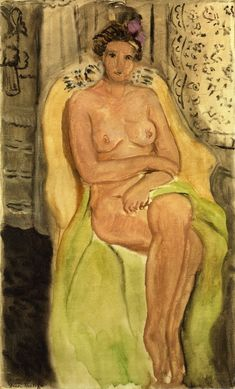 Nude in an Armchair, Legs Crossed, 1920 Henri Matisse - by style - Post-Impressionism Henri Matisse, Matisse Kunst, Matisse Art, Pablo Picasso, Figure Painting, Painting & Drawing, Matisse Pinturas, Art Beauté, Matisse Paintings