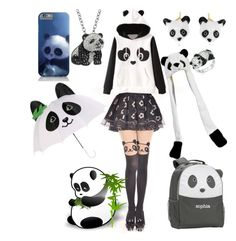 """""""Pandas pandas pandas PANDAS TODOS LOS DIAS Y MESES DEL AÑO"""" by loa-chan on Polyvore featuring moda, Nach, Kevin Jewelers, PBteen, Animal Planet y Hello Kitty"""