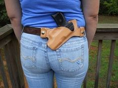 Small of Back Holster – Compact Semi-automatic – RMB Custom Leather Pistol Holster, Leather Holster, Revolver, Leather Tooling, 1911 Holster, Custom Kydex Holsters, Leather Carving, Leather Bags, Small Of Back Holster