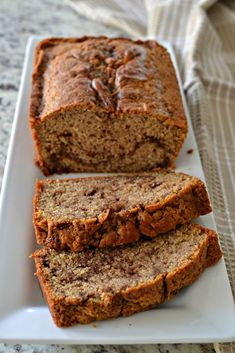 Cinnamon Bread is an easy sweet bread that comes together quickly and is swirled with sweet cinnamon butter making it perfect for breakfast or brunch. Quick Bread Recipes, Pound Cake Recipes, Baking Recipes, Dessert Recipes, Baking Desserts, Breakfast Recipes, Fruit Bread, Dessert Bread, Banana Bread