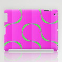Neongrün trifft pink iPad Case by DagmarMarina - $60.00