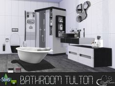 Sims 4 Updates: TSR - Furniture, Bathroom : Tulton Bathroom recolor set 1 by BuffSumm, Custom Content Download!